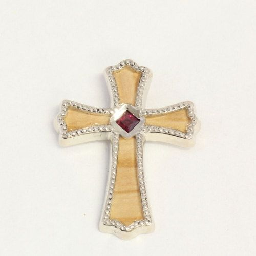 Hey, I found this really awesome Etsy listing at https://www.etsy.com/listing/160504275/14k-white-gold-cross-pendant-with-wooden