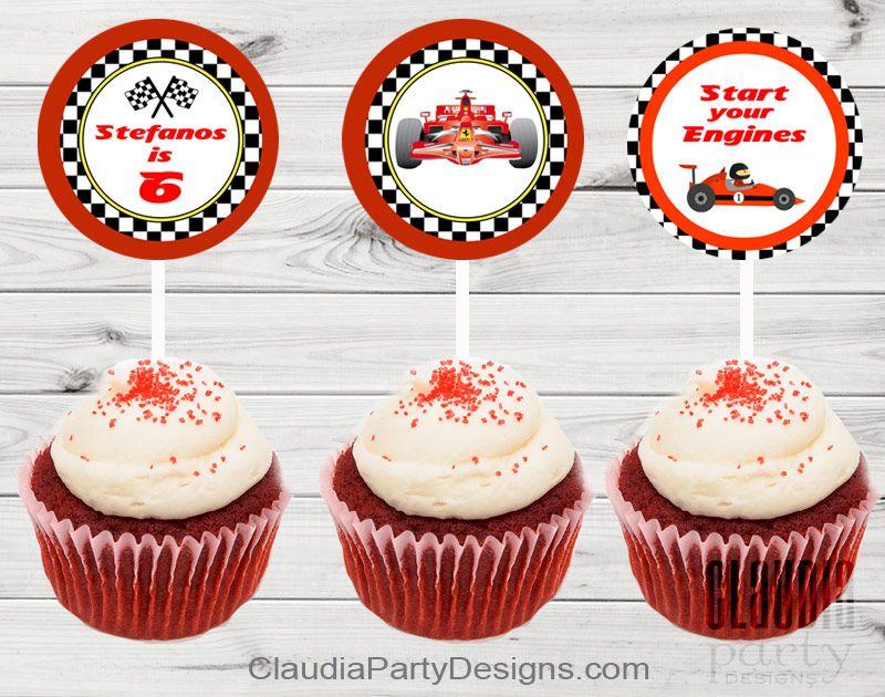 Ferrari Birthday Ferrari Cupcake Toppers Cupcake Toppers