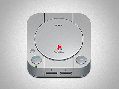 Playstation-one- i love the retro video game system icon they have really added everything to create a perfect re-creation of the system. The right amount of detail to make it work really well as an icon.