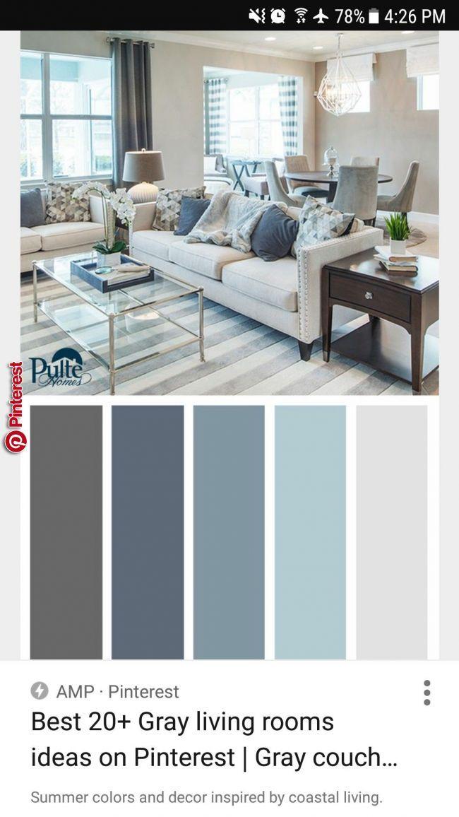 Paleta De Colores Grises Y Azules Interior Design In 2019 Pinterest Living Room Color Sc Living Room Colors Living Room Color Schemes Living Room Designs