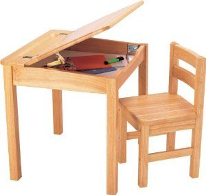 Pintoy Natural Wooden Desk and Chair: Amazon.co.uk: Toys & Games ...