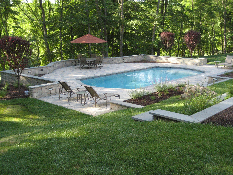 Backyard Design Basics: Landscaping Between Back Porch And Swimming Pool