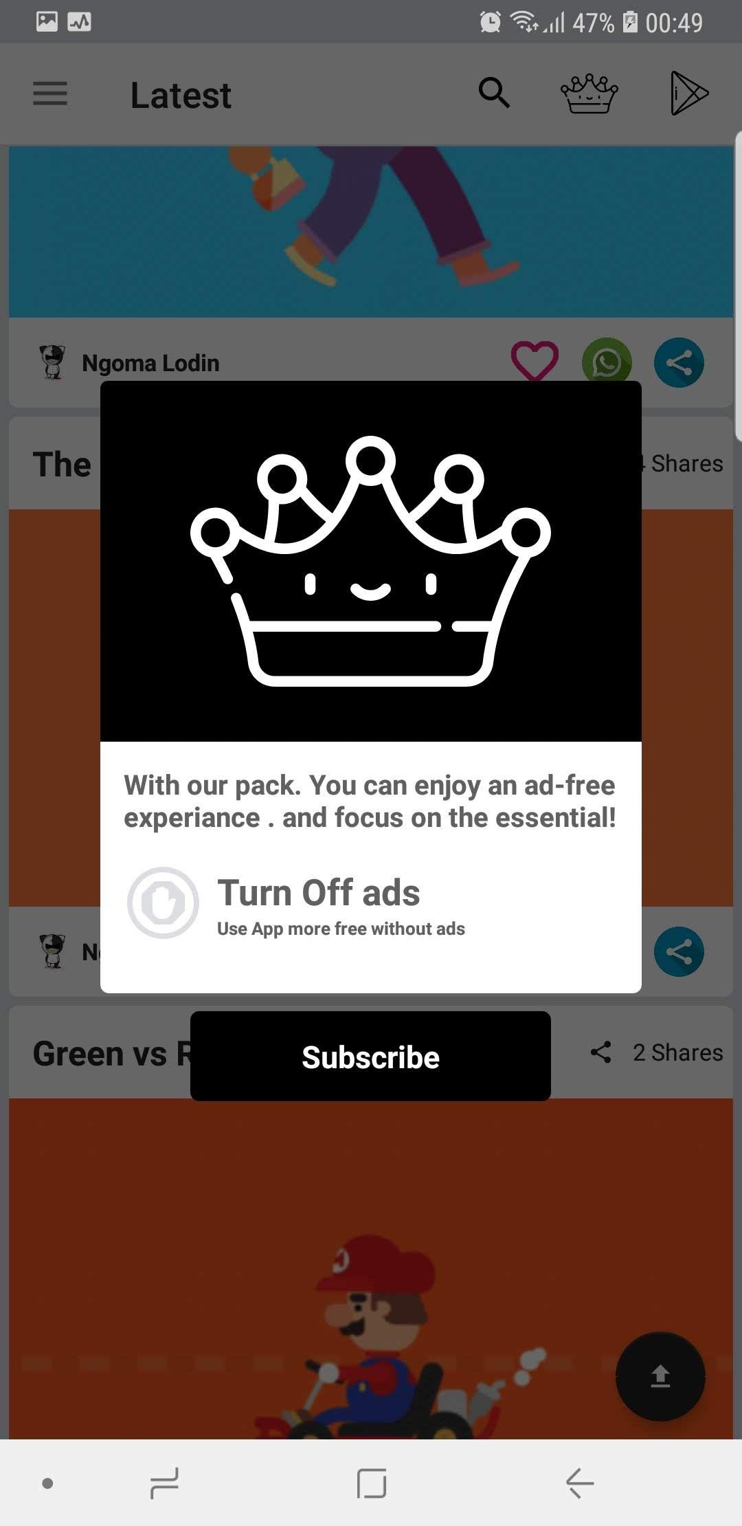 Ultimate Status Gif App App, Splash screen, Admin panel