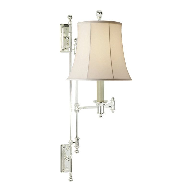 Kerry Swing Arm Wall Lamp in Polished Silver - Wall Lamps / Sconces ...