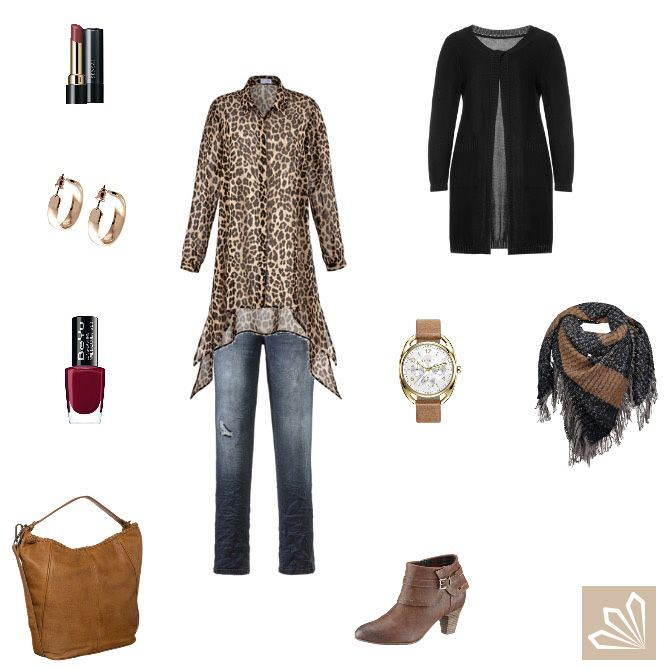 Plus Size Outfit: Leo & Destroyed Denim. Mehr zum Outfit unter: http://www.3compliments.de/outfit-2015-09-26-o#outfit2