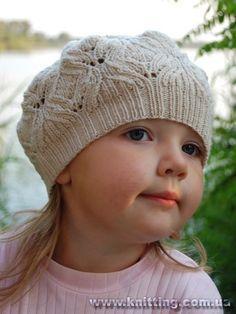 Вязание спицами для детей берет для девочек схемы