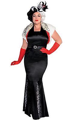 Adult Cruella De Vil Costume Couture Plus Size - 101 Dalmatians ...