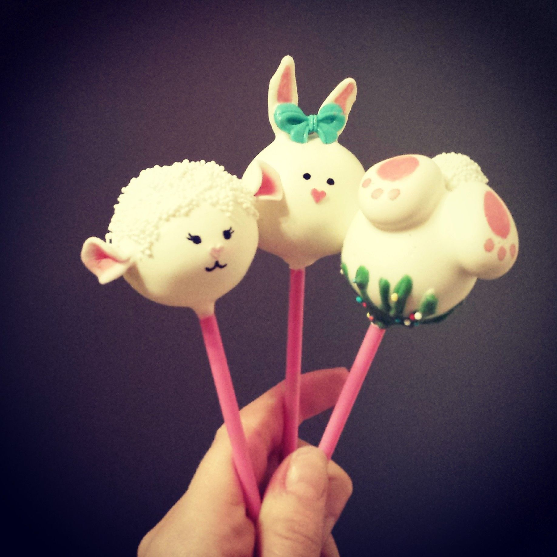 Easter bunnies and lamb cake pops delish cake pops