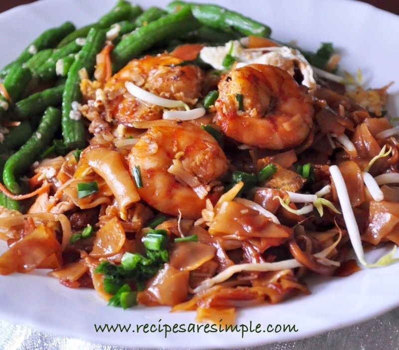 Char Kway Teow recipe Char kway teow recipe, Rice