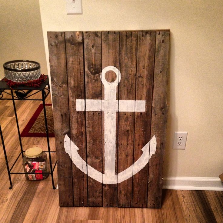 Things to make out of pallets make an anchor out of for Making things with wooden pallets