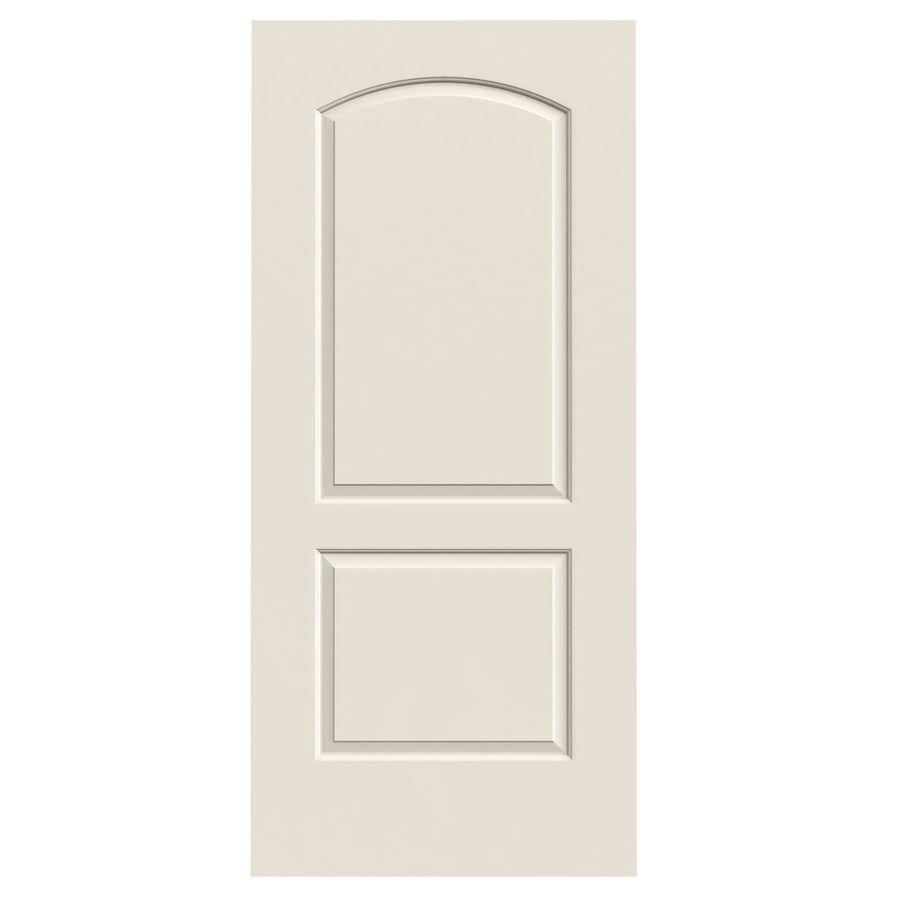 Jeld Wen Continental Primed 2 Panel Round Top Hollow Core Molded Composite Slab Door Common 32 In X 80 In Actual 32 In 2020 Slab Door Reliabilt Jeld Wen