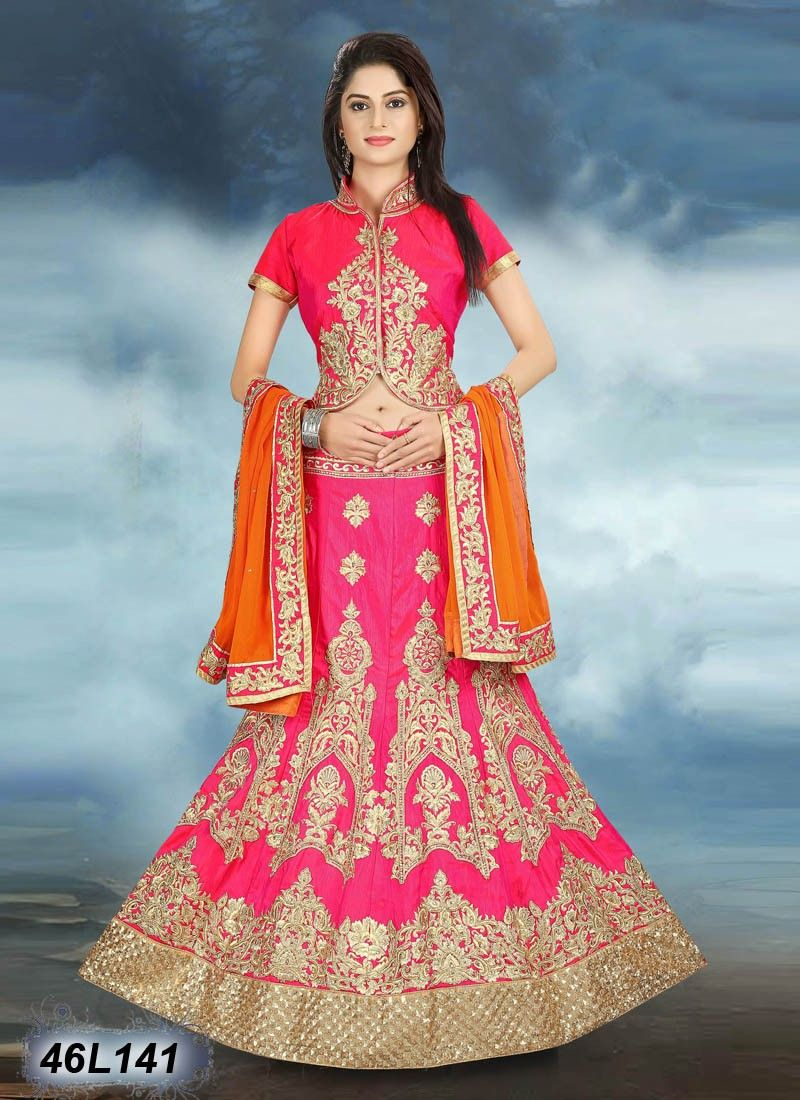c7f7db8745 Buy Mind Blowing Pink Colored Raw Silk Lehenga Choli Get 10% Off on Designer  Lahenga Choli From Leemboodi Fashion with Free Shipping in INDIA Now  Available ...