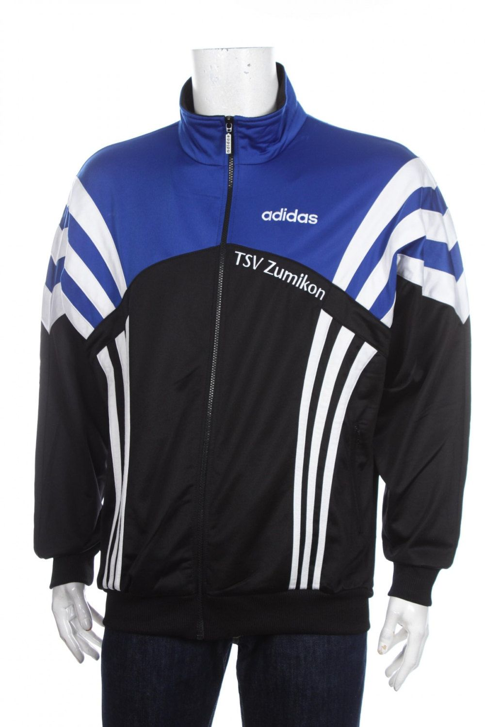 Vintage 90s Adidas Windbraker Tracksuit Top jacket Color block ...