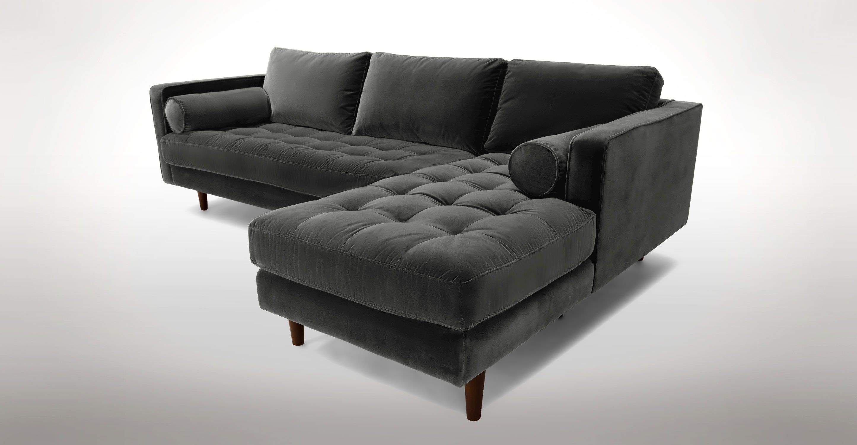 Sven Shadow Gray Right Sectional Sofa Sectionals Article