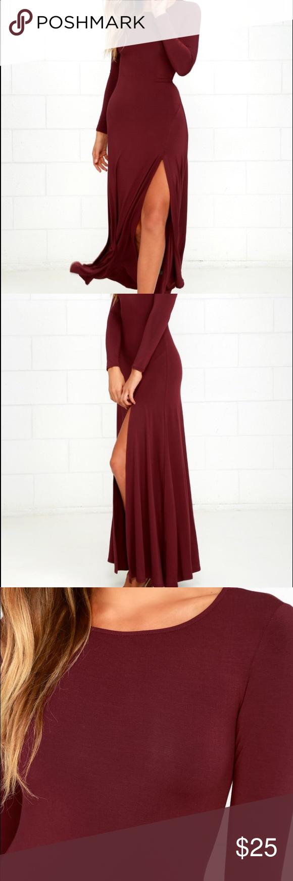 Lulu Swept Away Burgundy Maxi Long Sleeve Dress Long Sleeve Maxi Dress Maxi Dress With Sleeves Burgundy Maxi Dress [ 1740 x 580 Pixel ]