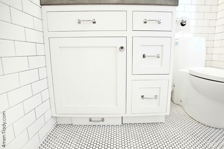 4 Men 1 Lady   bathrooms   Merola Tile Penny Round 12 in  x 12 1 4 in  White Porcelain Mesh Mounted Mosaic Tile  Restoration Hardware Aubrey. 4 Men 1 Lady   bathrooms   Merola Tile Penny Round 12 in  x 12 1 4