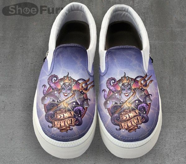 04929b2a45082d Little Mermaid inspired Ursula tattoo shoes.