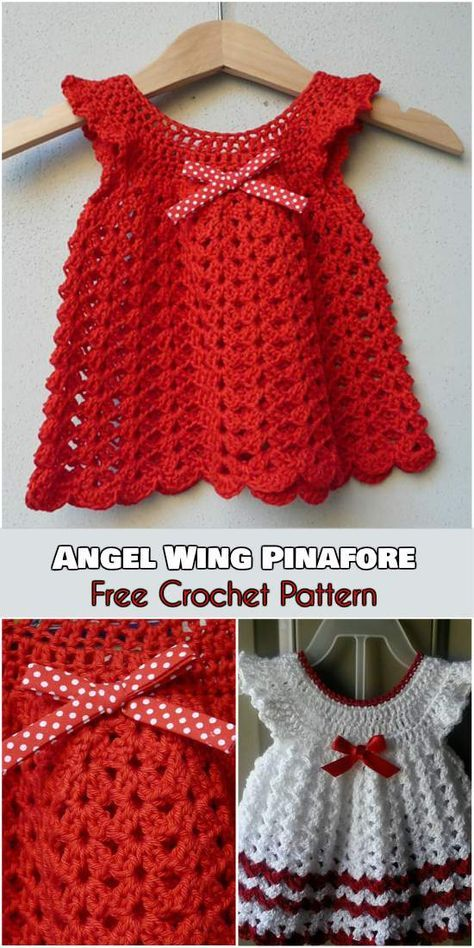 Angel Dress Wings Pinafore | Crochet for baby girls