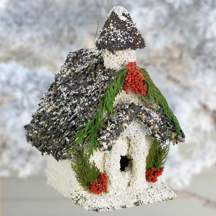 Christmas chapel edible birdhouse edible birdhouse bird