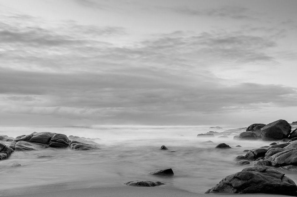 Free Image On Pixabay Sea Black And White Nature Paysage Noir Et Blanc Photographie Noir Et Blanc Photographie De Paysages