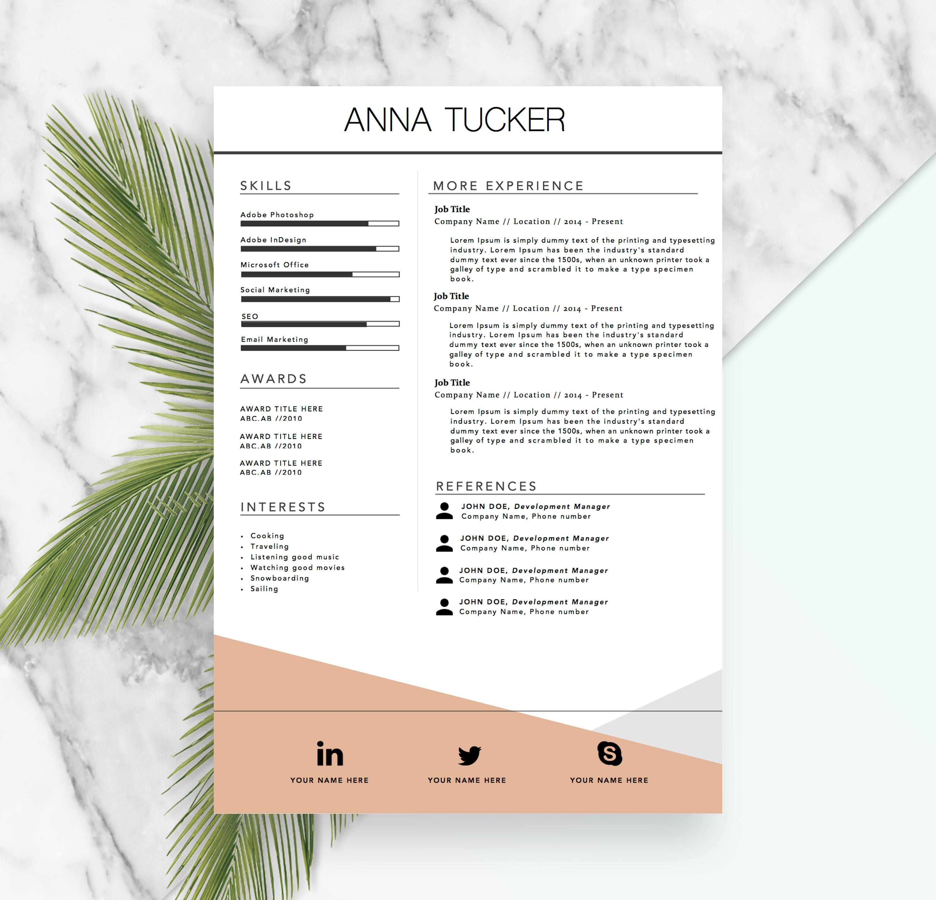 Welcome to the resume boulevard an esty shop for high quality modern resume template cv template professional and yelopaper Choice Image