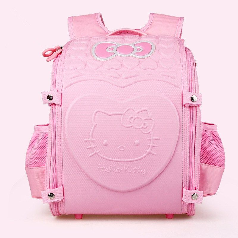 9b11fd521c Noble Hello Kitty kids Schoolbag Backpack EVA Folded Orthopedic Backpacks  Children School Bags For girls Mochila