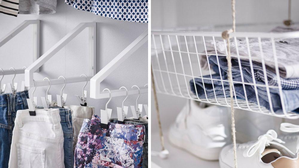 Un dressing malin pour gagner du temps le matin | Dressing, Deco and ...