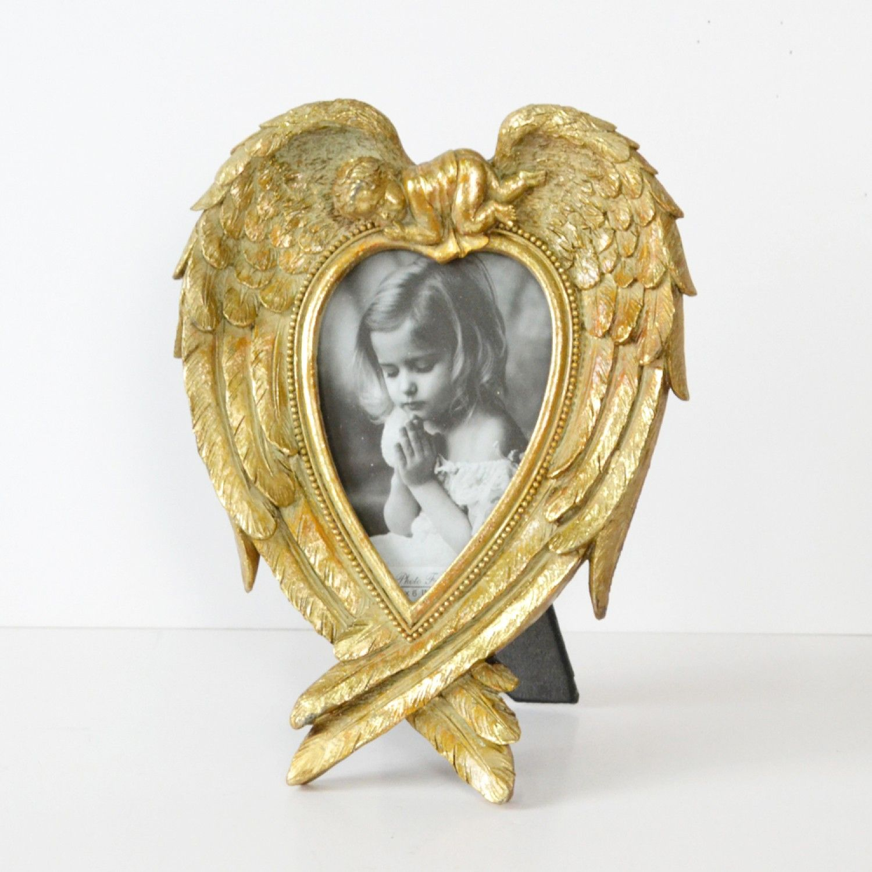Heart-Shaped Angel Wings Frame $19.00 #thebellacottage #shabbychic ...