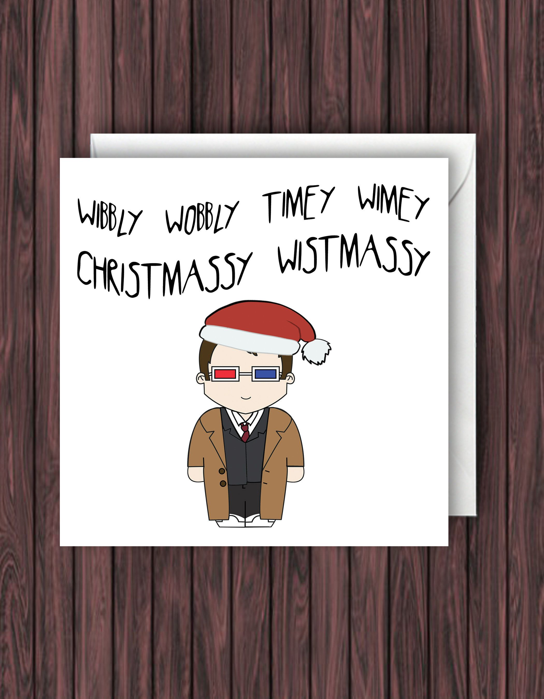 Doctor Who Christmas Cards.Doctor Who Christmas Card 10 Doctor Christmas Card Tenth Doctor