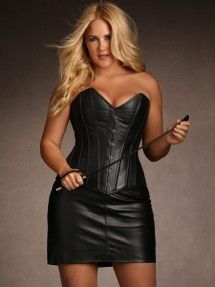 fb960dc416c25 Stella Rose Plus Size Leather Corset