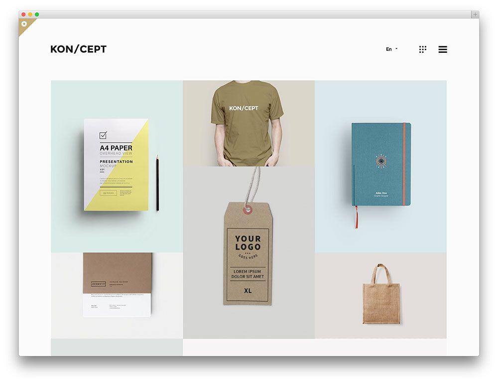 koncept minimal portfolio theme flight pinterest