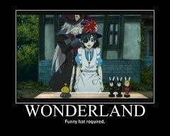 Black Butler's Wonderland...funny hat required. Not a problem! :3