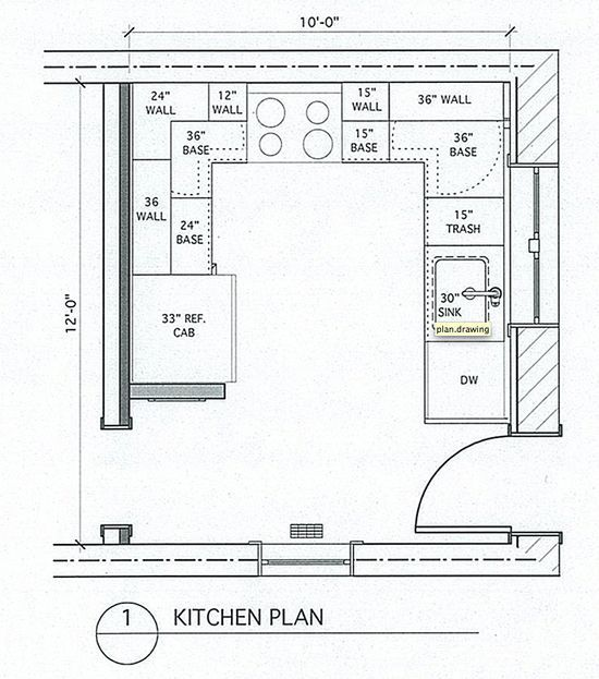 Small U-shaped Kitchen Design Layout