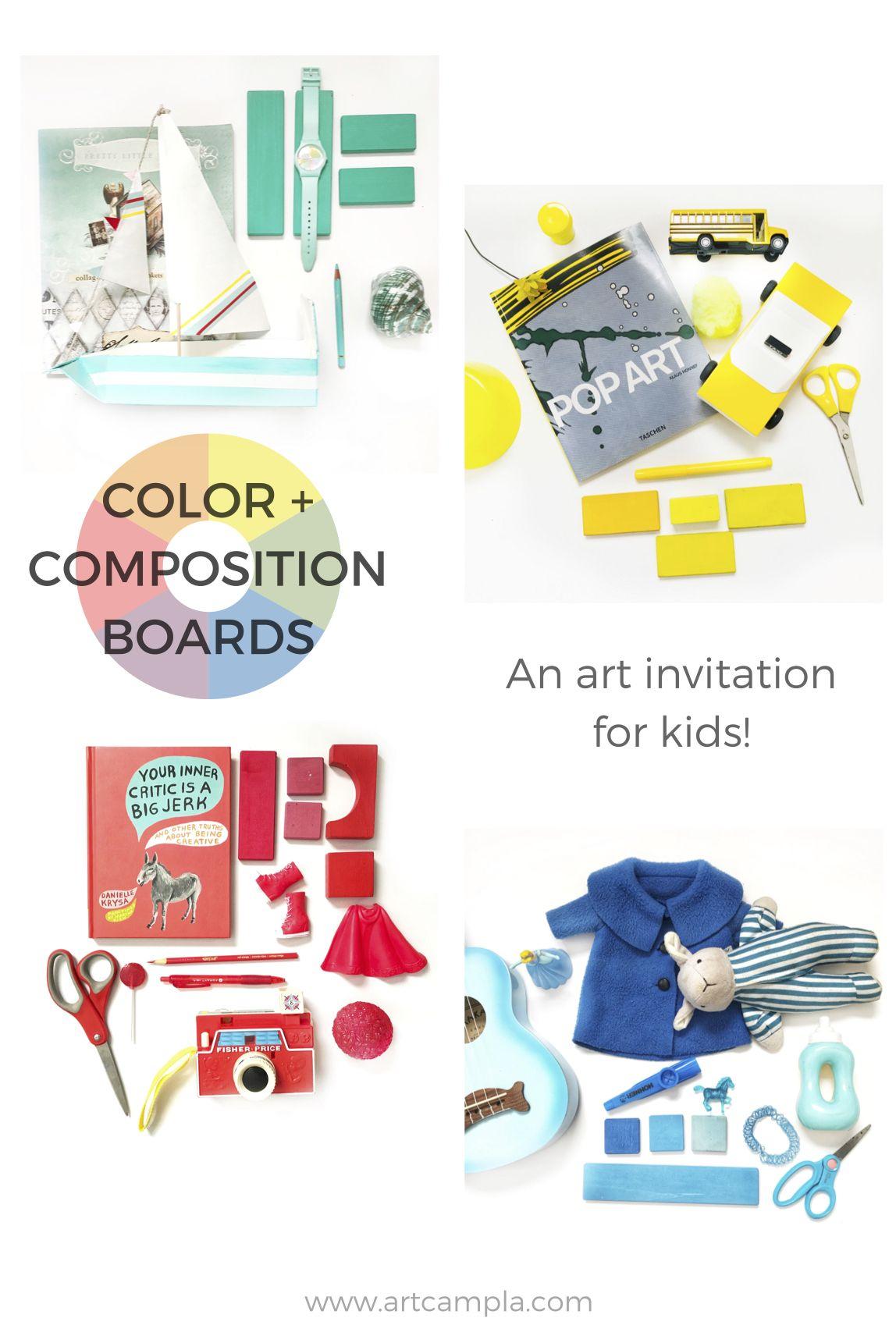 Art invitation color composition boards art camp blog art invitation for kids color composition boards elements of composition art ed stopboris Images