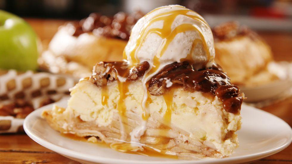 Upside Down Cheesecake Apple Pie Recipe Cheesecake