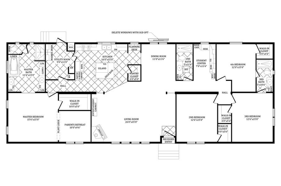 Double Wide Manufactured Home Floorplans