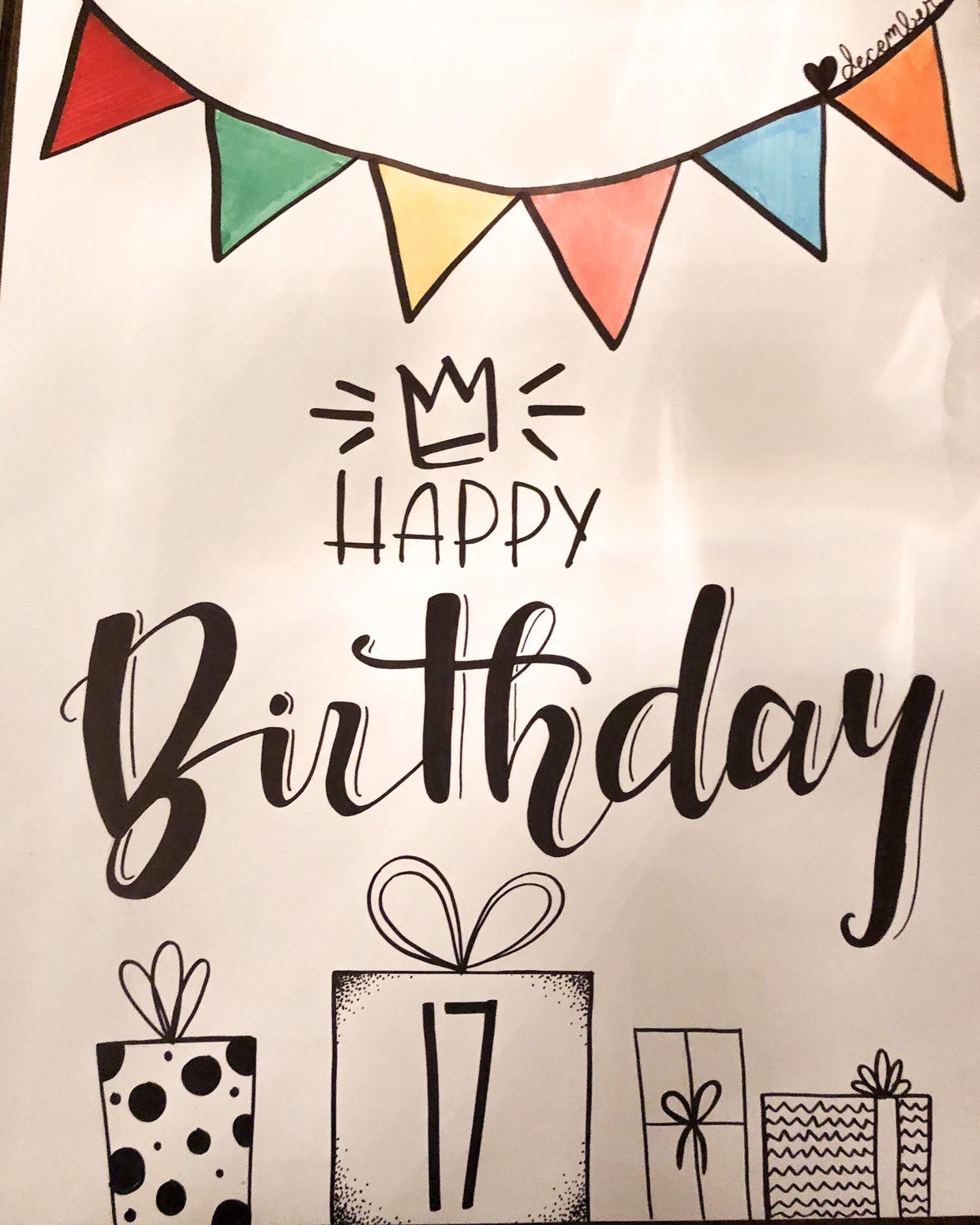 Cute Happy Birthday Posters Diy