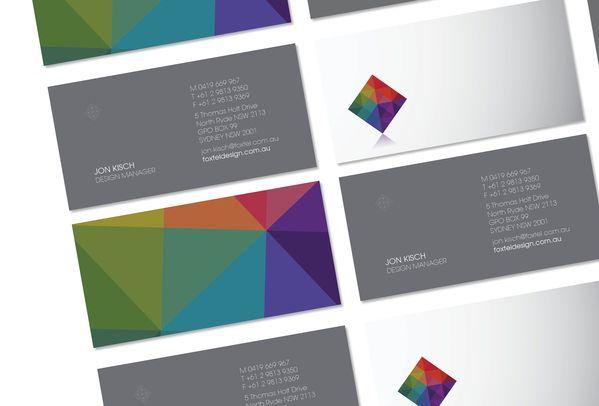 biz card / Foxtel Design by Darren Wigley, via Behance