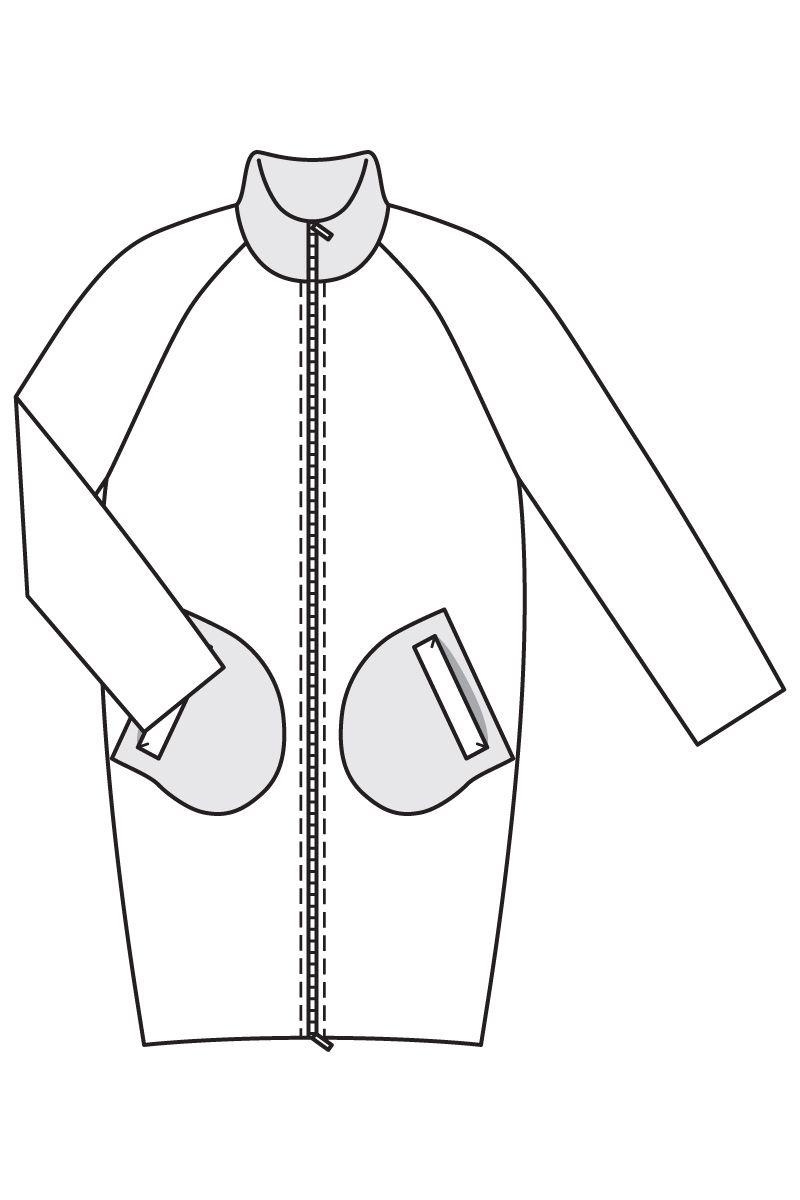 Пальто о силуэта выкройка