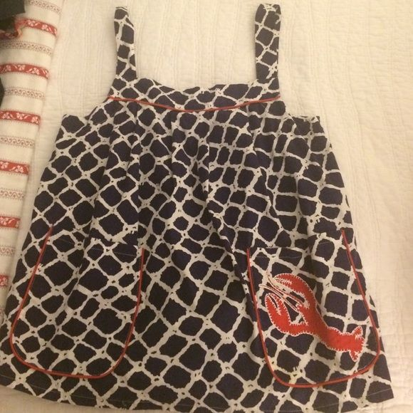 Kate spade top Navy and white nautical top with lobster detail on pocket. kate spade Tops