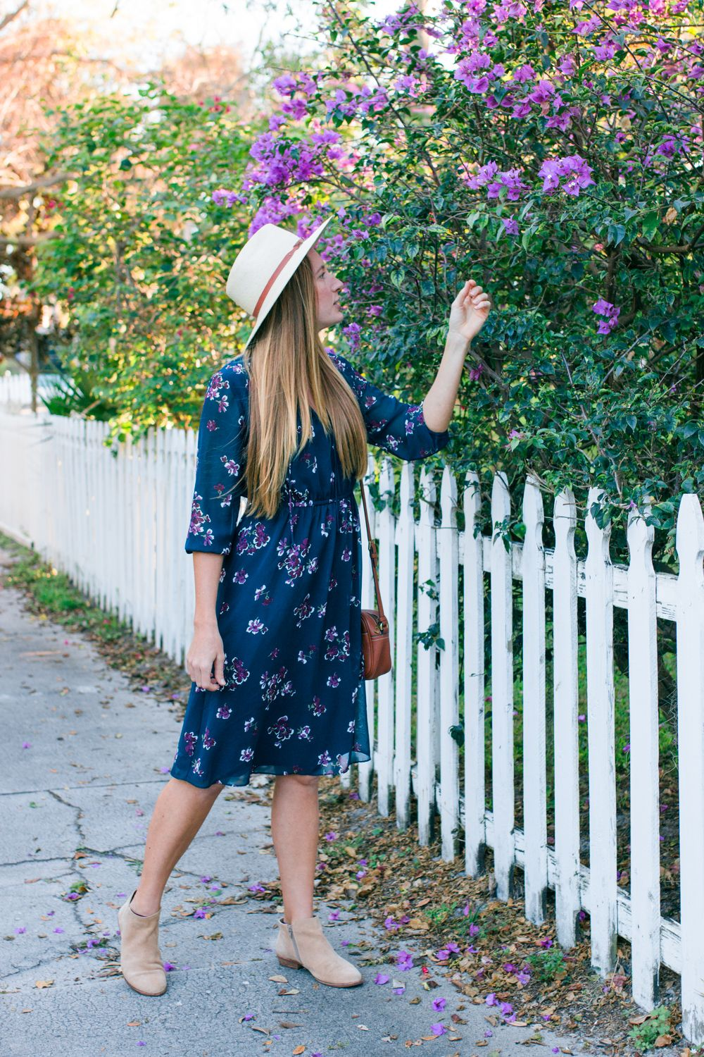 The Blue Floral Midi Dress I Plan On Wearing All Winter Sunshine Style Blue Floral Midi Dress Floral Midi Dress Midi Dress Winter [ 1500 x 1000 Pixel ]