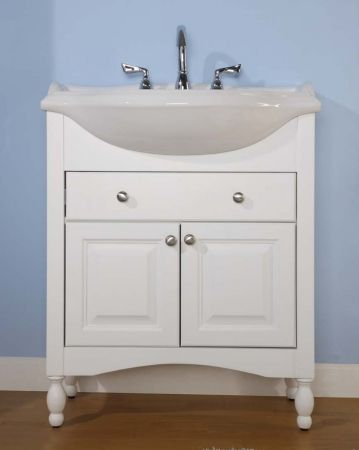 34 Inch Single Sink Narrow Depth Furniture Bathroom Vanity With