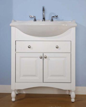 34 Inch Single Sink Narrow Depth Furniture Bathroom Vanity With