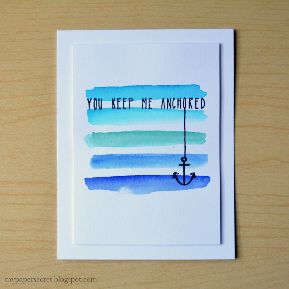 Neat and Tangled: August Guest Designer: Cristina Kowalczyk! you keep me anchored watercolor @cristinak