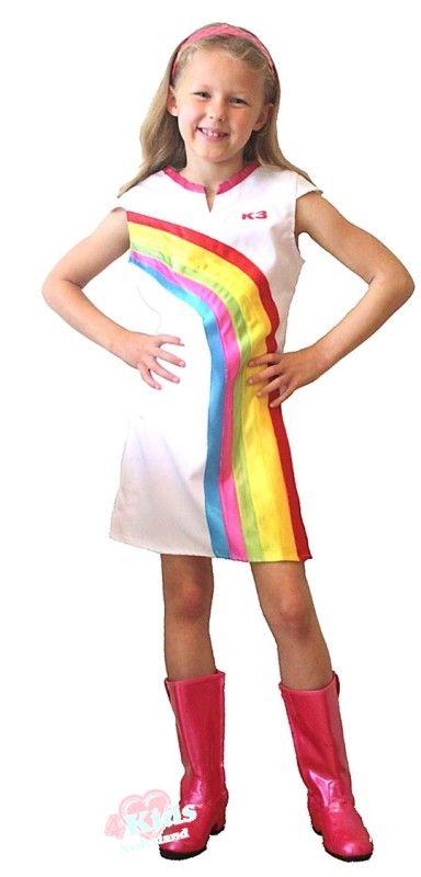 Regenboog jurkje carnaval