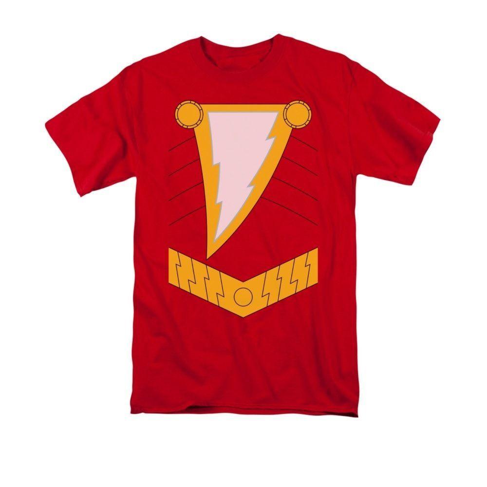 940e591b2 Shazam Captain Marvel Billy Batson Uniform Costume Logo DC Comics T-shirt  Top #TrevcoInc #GraphicTee
