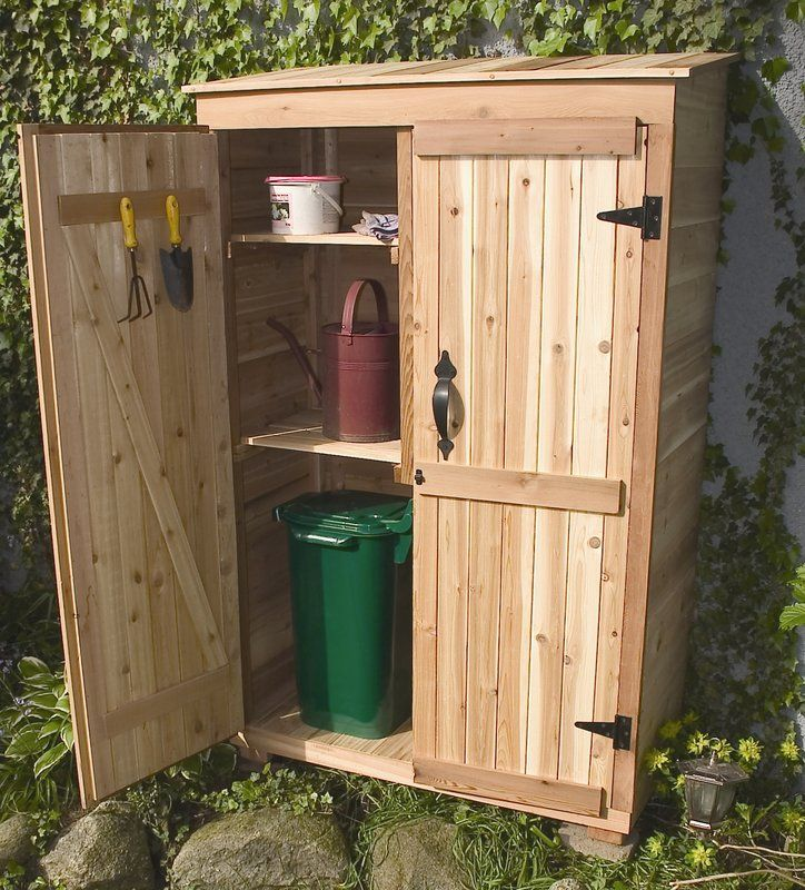 Garden chalet 4 ft w x 2 ft d wooden leanto tool shed