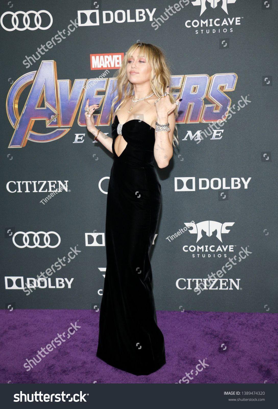 Miley Cyrus at the World premiere of 'Avengers Endgame
