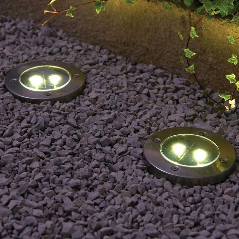 Led Solar Powered In Ground Lights In Ground Lights Solar Power Diy Floor Lights