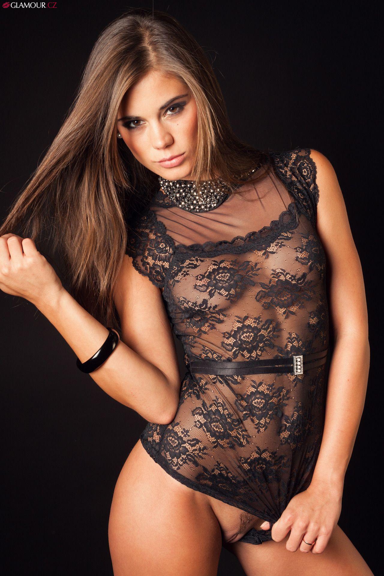 Tori black latex leggings